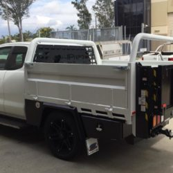 Ford Ranger Space Cab Steel Tray w/ Tommy Gate Rear Loader