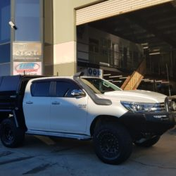 Toyota Hilux Matte Black Tray and Toolboxes
