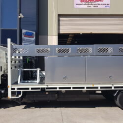 Hino Rigid Truck Toolboxes and Conduit Rack