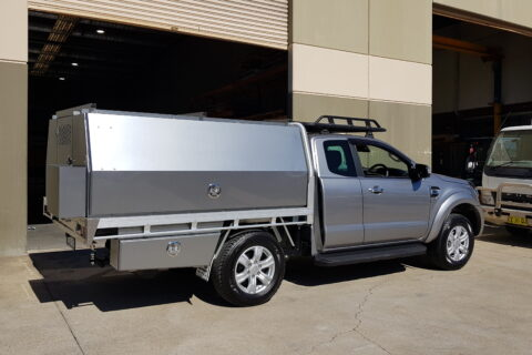 Ford Ranger Space Cab Silver Toolboxes