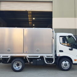 Hino Truck Toolboxes with Rear Loader