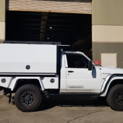 Nissan Patrol Steel Tray and Custom Canopy