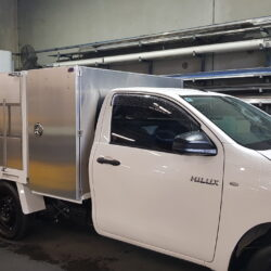 Toyota Hilux Custom Landscaping Steel Tray and Fitout